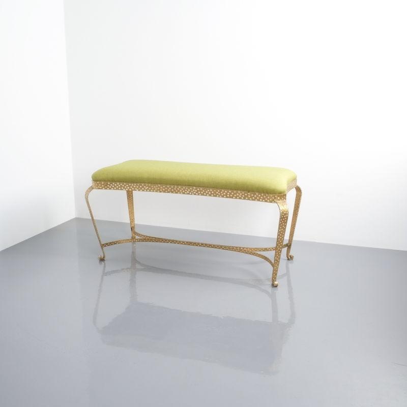 Colli bench green fabric 9 Kopie