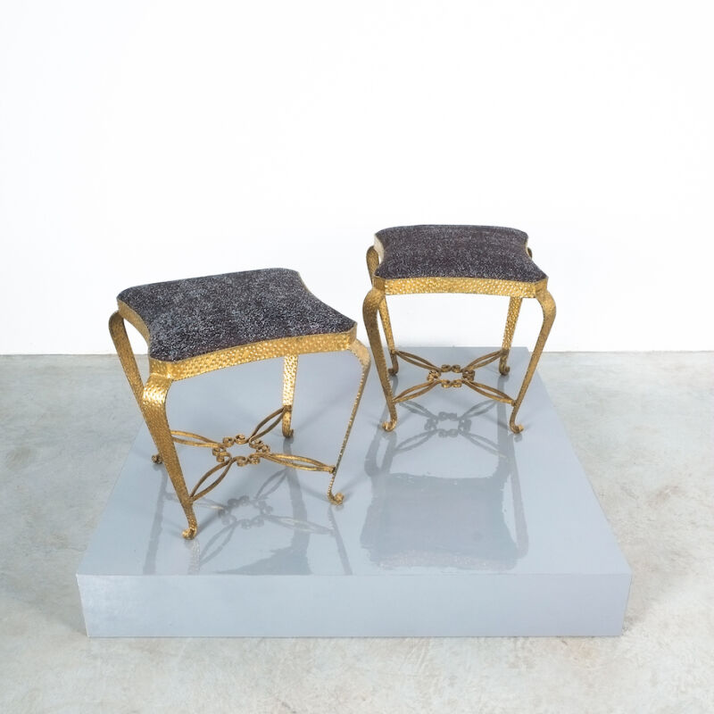 Colli Pair Small Stools Black 01