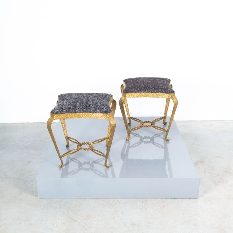 Colli Pair Small Stools Black 04