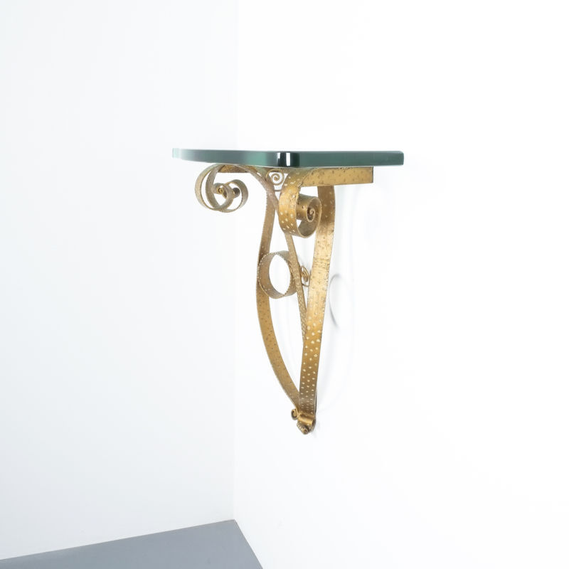 Colli Wall Console Iron Glass 04