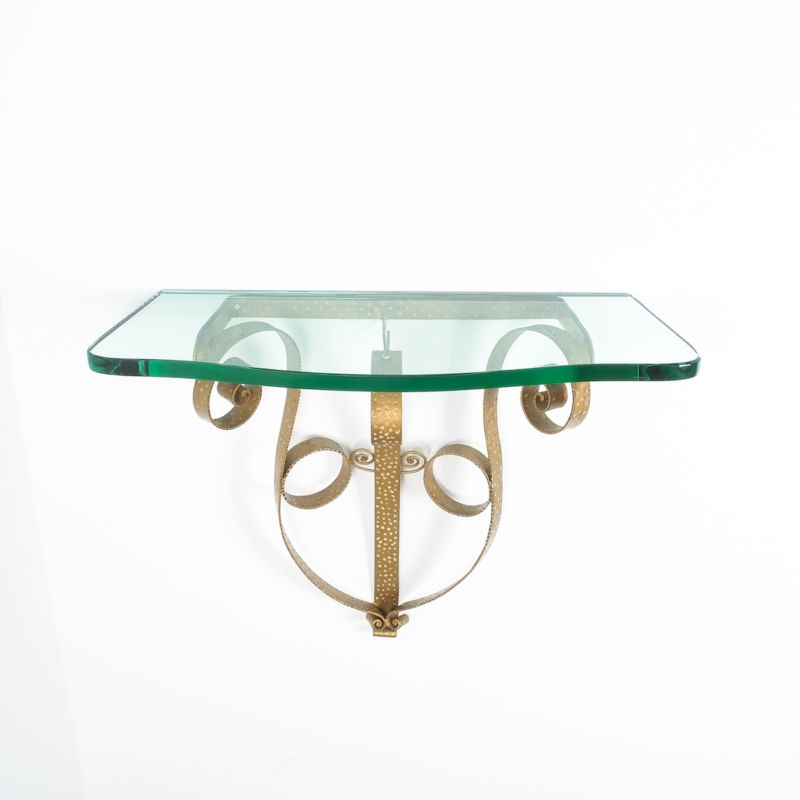 Colli Wall Console Iron Glass 11