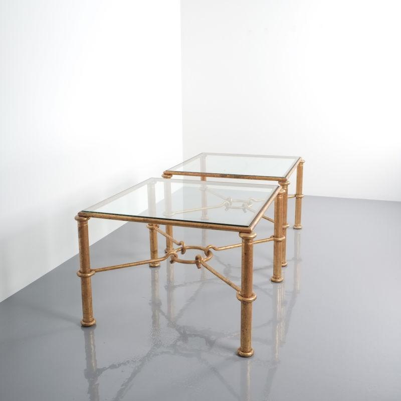 Drouet pair tables gold iron 1 Kopie