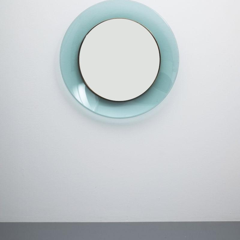 Fontana Arte Ingrand Blue Ribbon Mirror 01