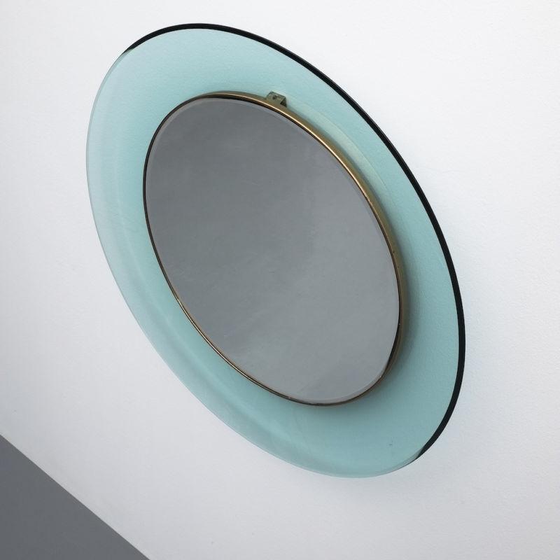Fontana Arte Ingrand Blue Ribbon Mirror 02