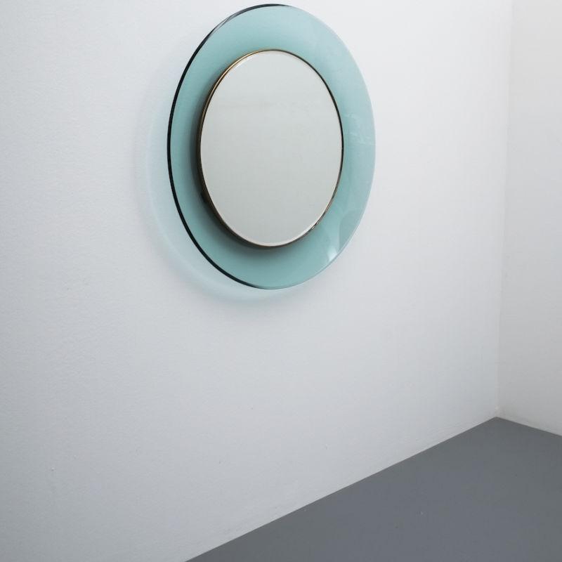 Fontana Arte Ingrand Blue Ribbon Mirror 03