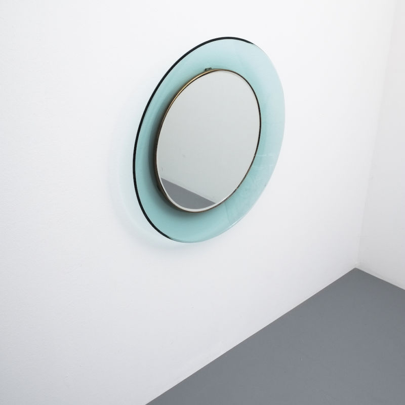 Fontana Arte Ingrand Blue Ribbon Mirror 05