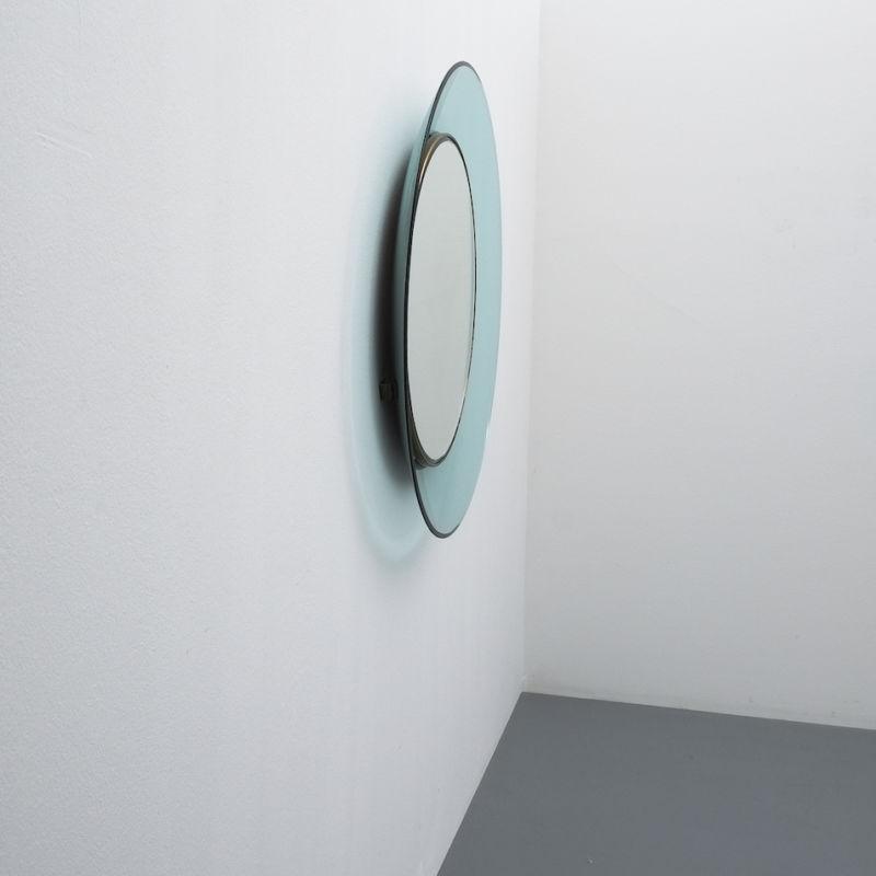 Fontana Arte Ingrand Blue Ribbon Mirror 06