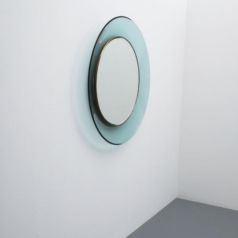 Fontana Arte Ingrand Blue Ribbon Mirror 07