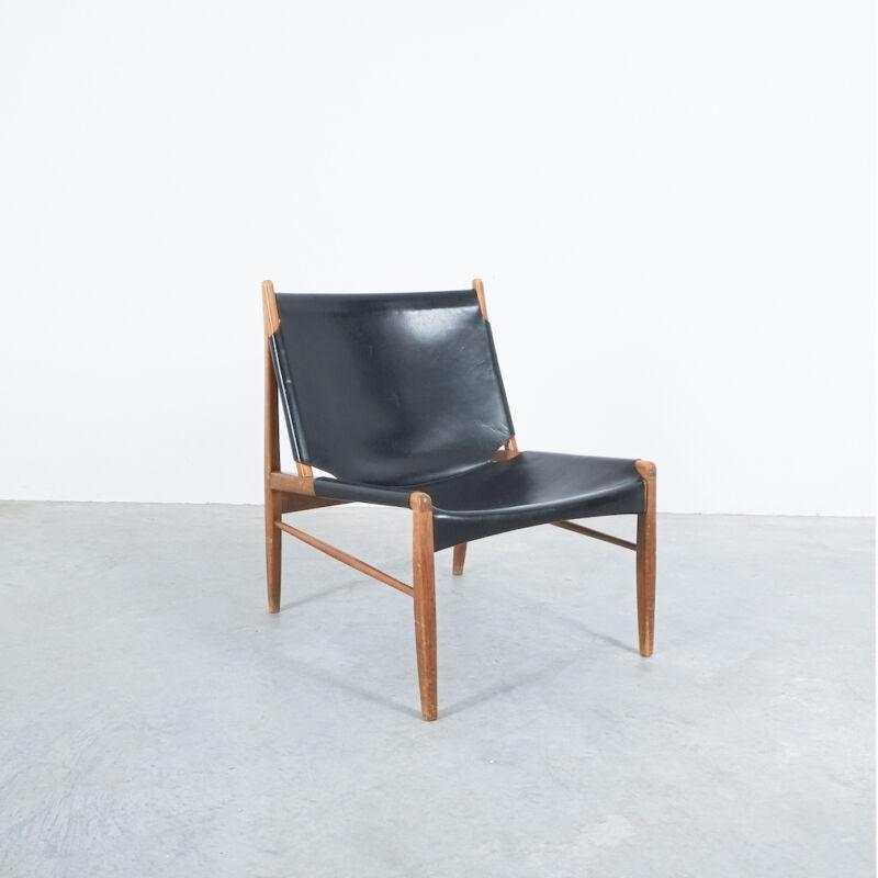 Franz Xaver Lutz Chimney Leather Chair 01