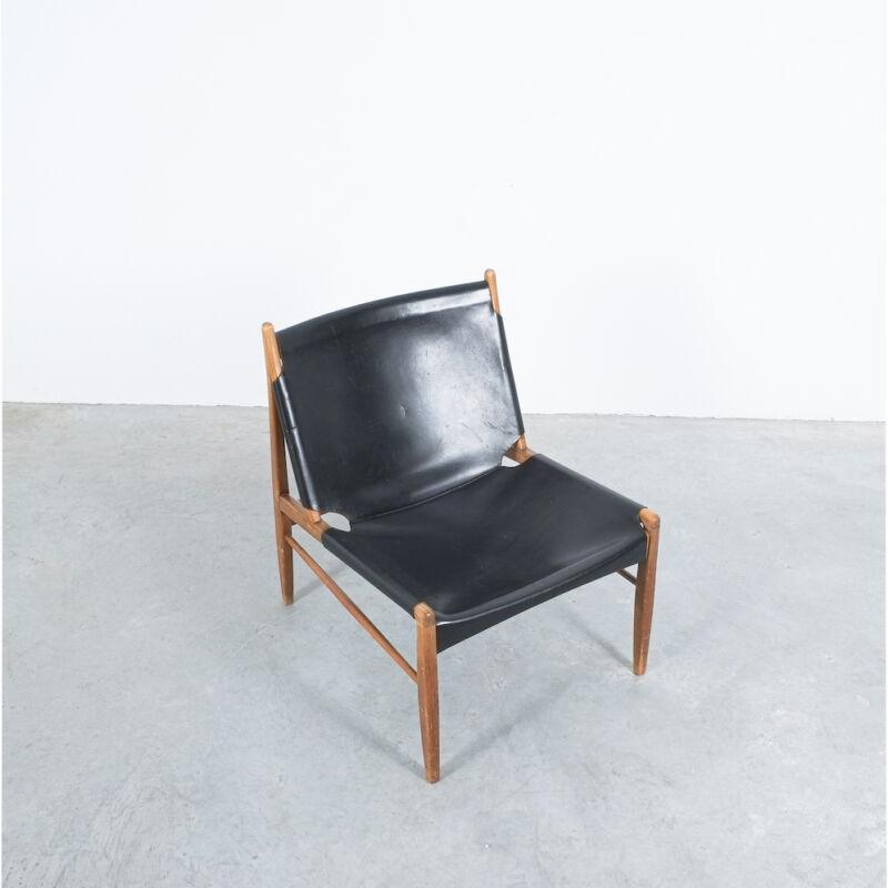 Franz Xaver Lutz Chimney Leather Chair 02