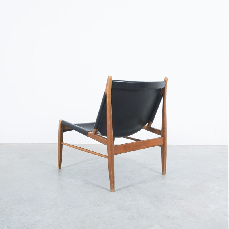 Franz Xaver Lutz Chimney Leather Chair 03