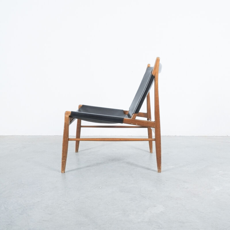 Franz Xaver Lutz Chimney Leather Chair 05