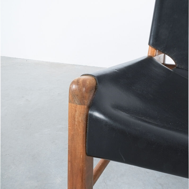 Franz Xaver Lutz Chimney Leather Chair 06