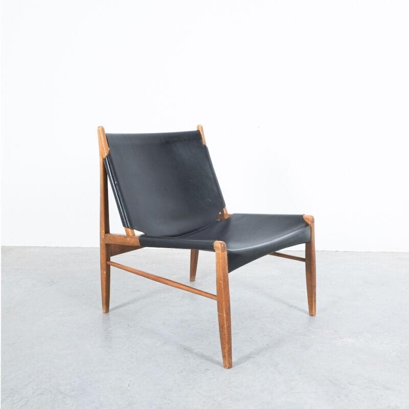 Franz Xaver Lutz Chimney Leather Chair 08