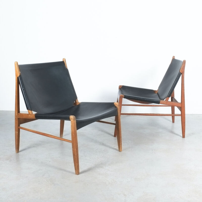 Franz Xaver Lutz Chimney Leather Chair 09