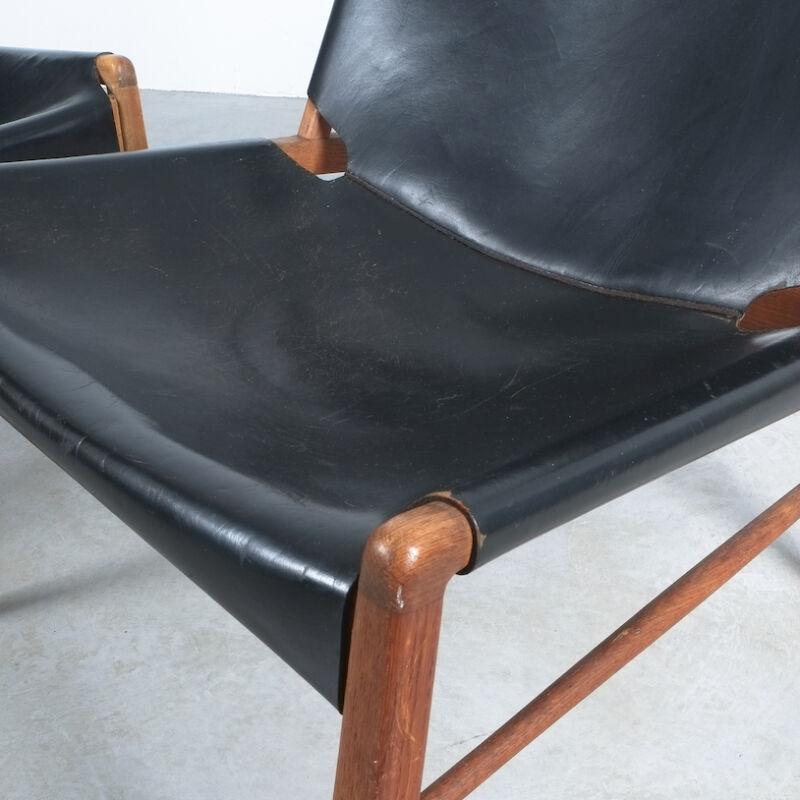 Franz Xaver Lutz Chimney Leather Chair 10