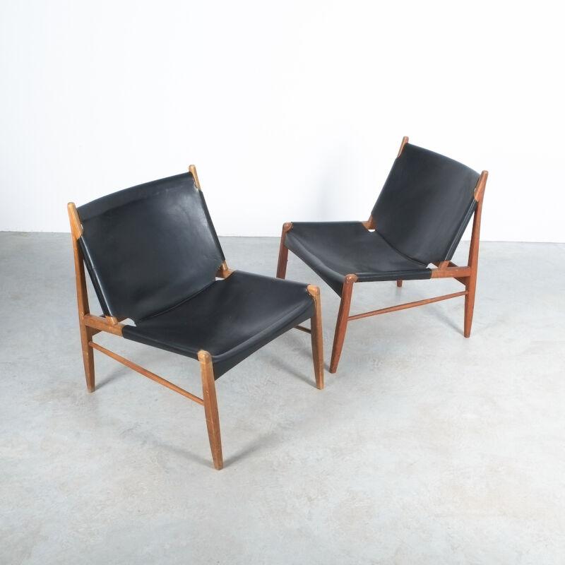 Franz Xaver Lutz Chimney Leather Chair 11