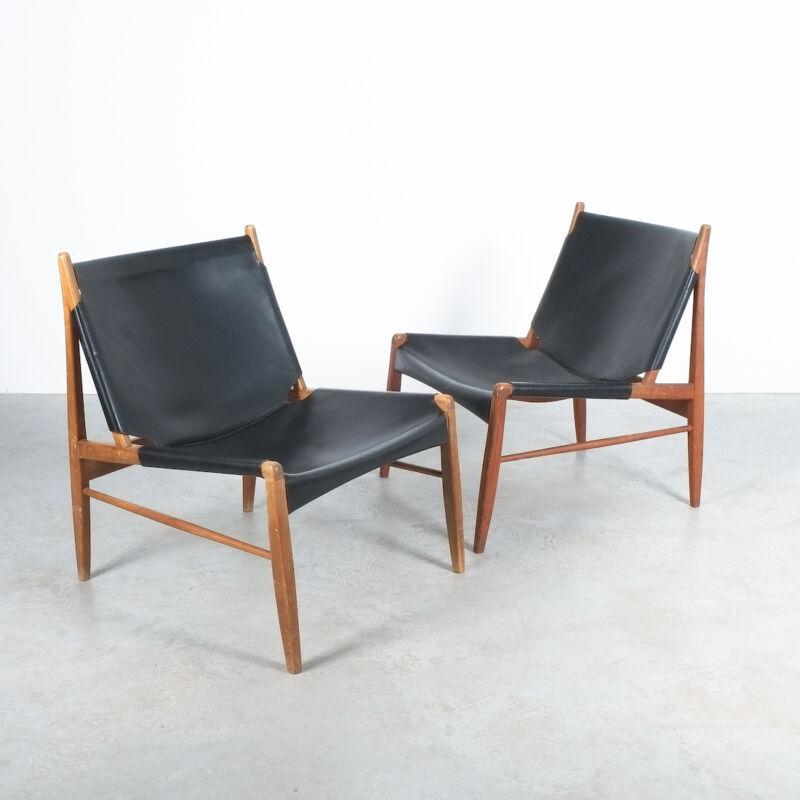 Franz Xaver Lutz Chimney Leather Chair 12