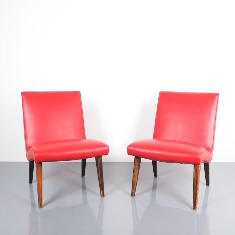 Jens Risom pair vinyl chairs 1 Kopie