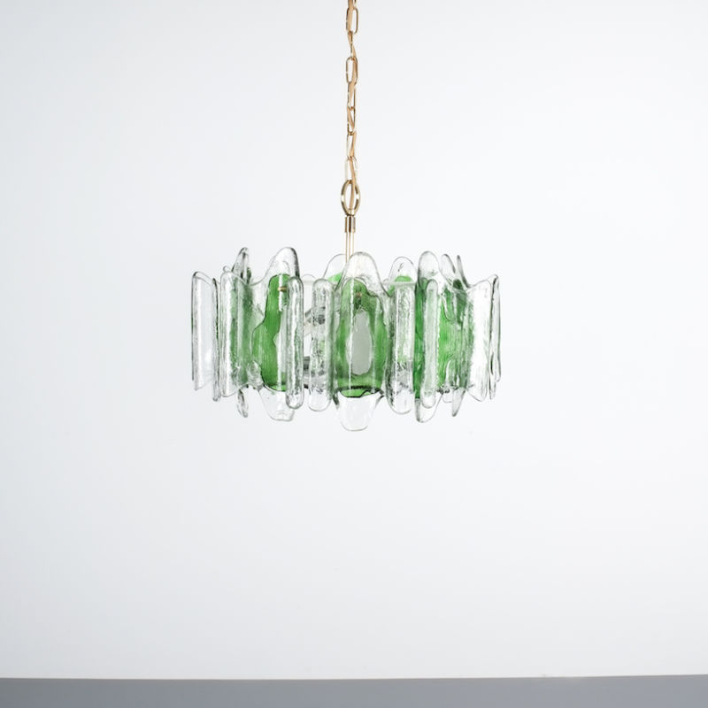Kalmar green glass chandelier 1960_01