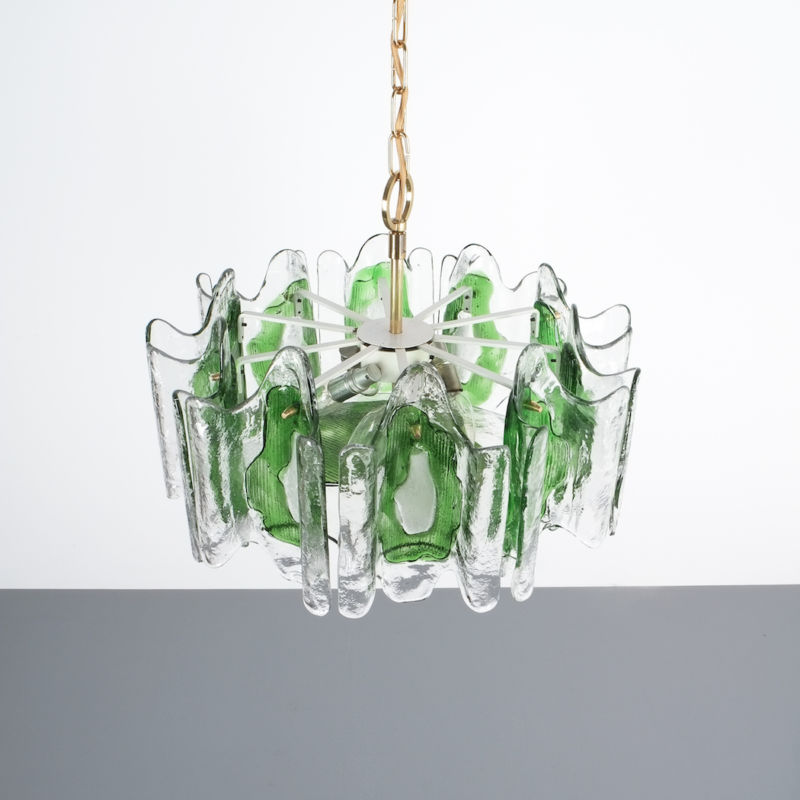 Kalmar green glass chandelier 1960_03