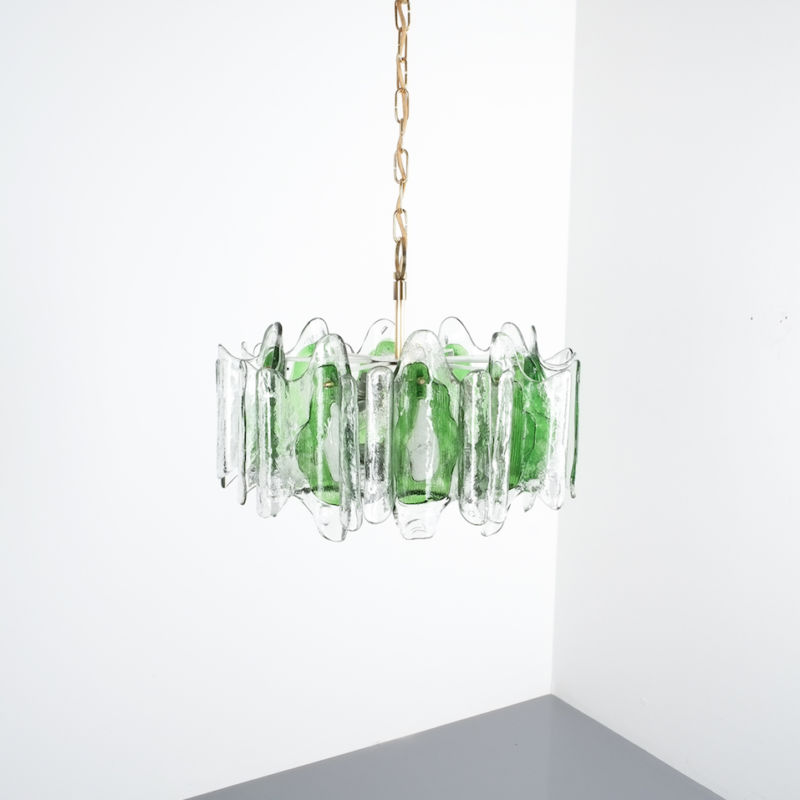 Kalmar green glass chandelier 1960_04