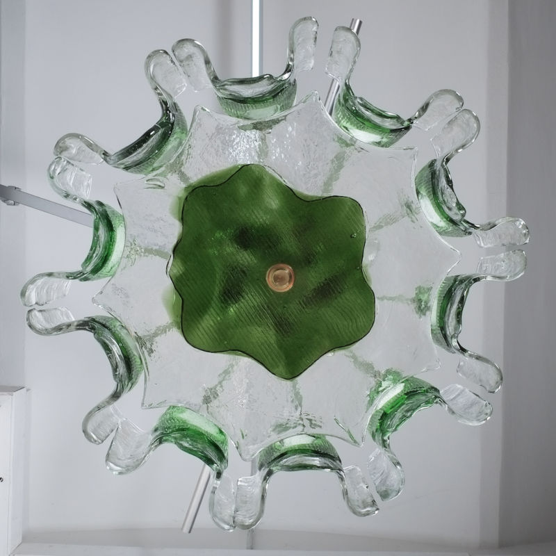 Kalmar green glass chandelier 1960_06