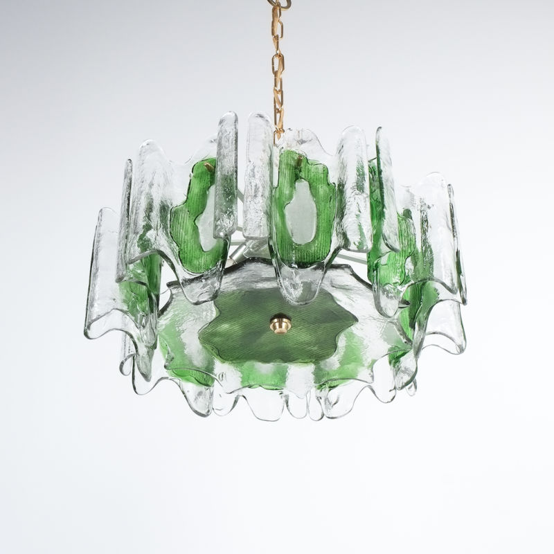 Kalmar green glass chandelier 1960_07