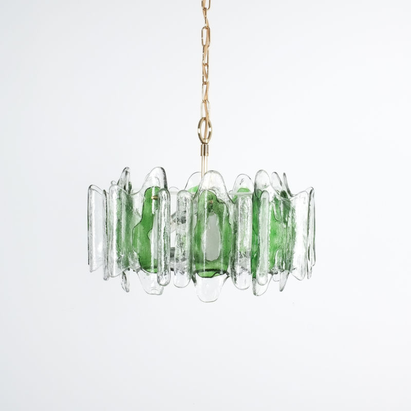 Kalmar green glass chandelier 1960_09