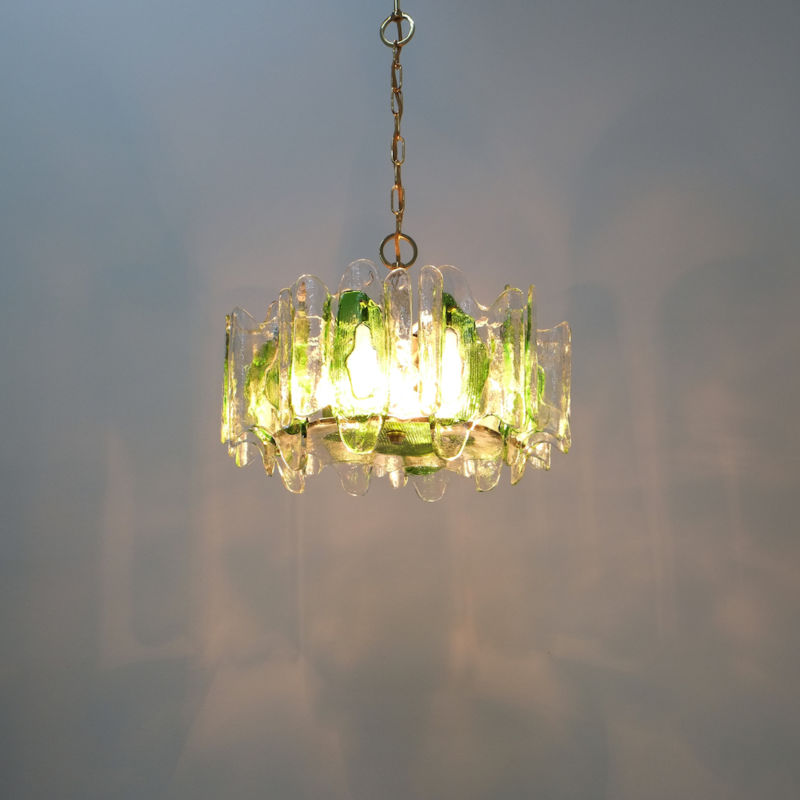 Kalmar green glass chandelier 1960_10