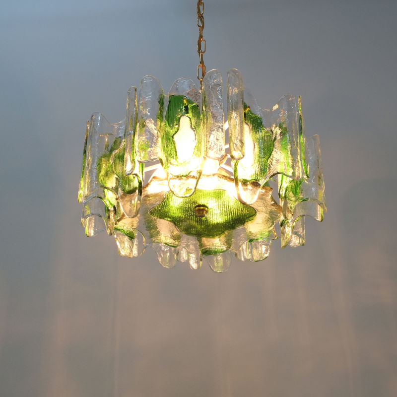 Kalmar green glass chandelier 1960_11