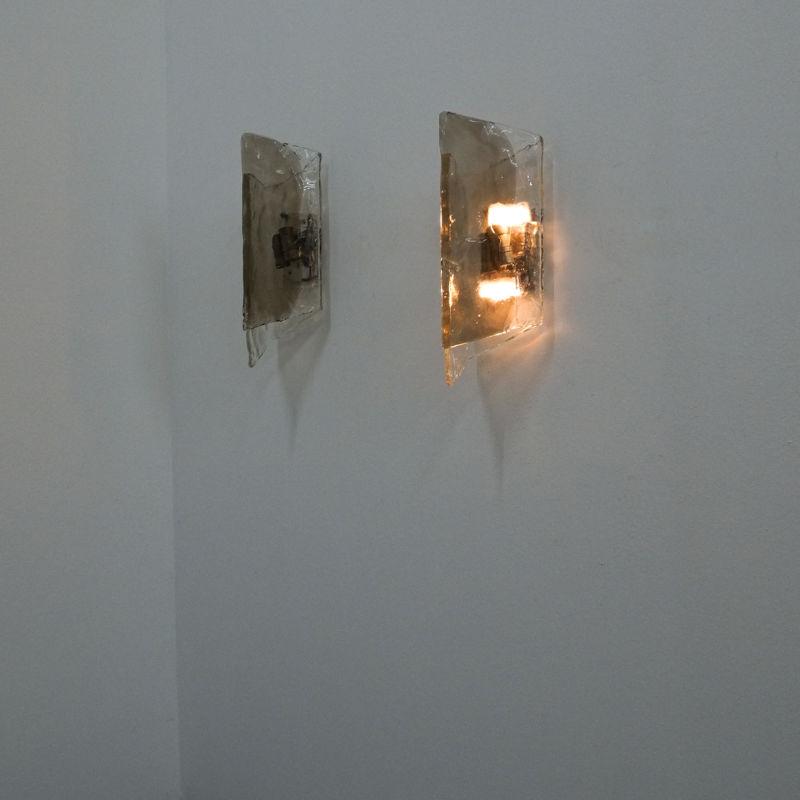 Kalmar Smoked Glass Sconces 12