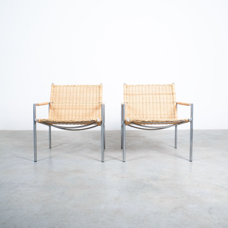 Martin Visser Wicker Chair Model SZ01 05