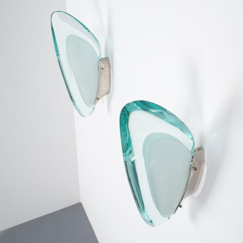 Max Ingrand Fontana Arte Sconces 1960 07