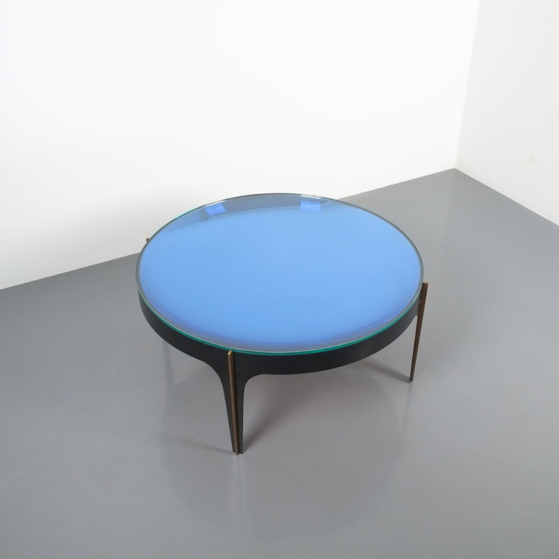 Max Ingrand Coffee Table 1774 Blue 02