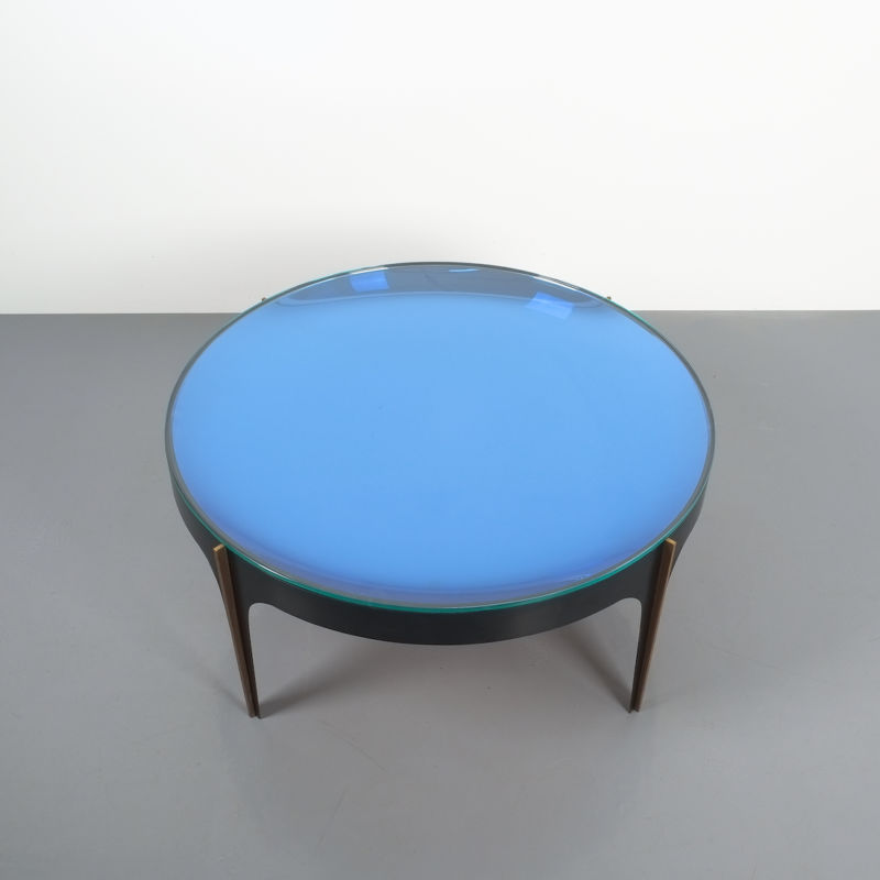 Max Ingrand Coffee Table 1774 Blue 04