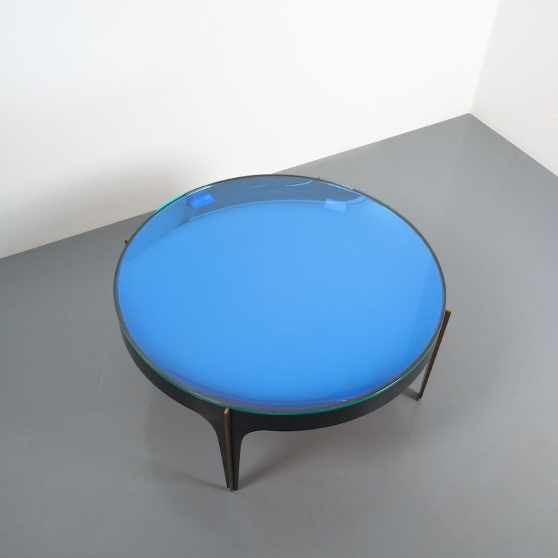 Max Ingrand Coffee Table 1774 Blue 08