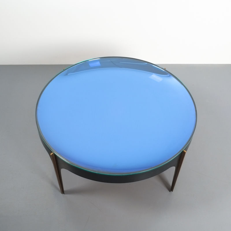 Max Ingrand Coffee Table 1774 Blue 10