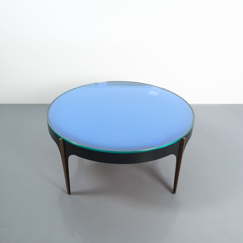 Max Ingrand Coffee Table 1774 Blue 11