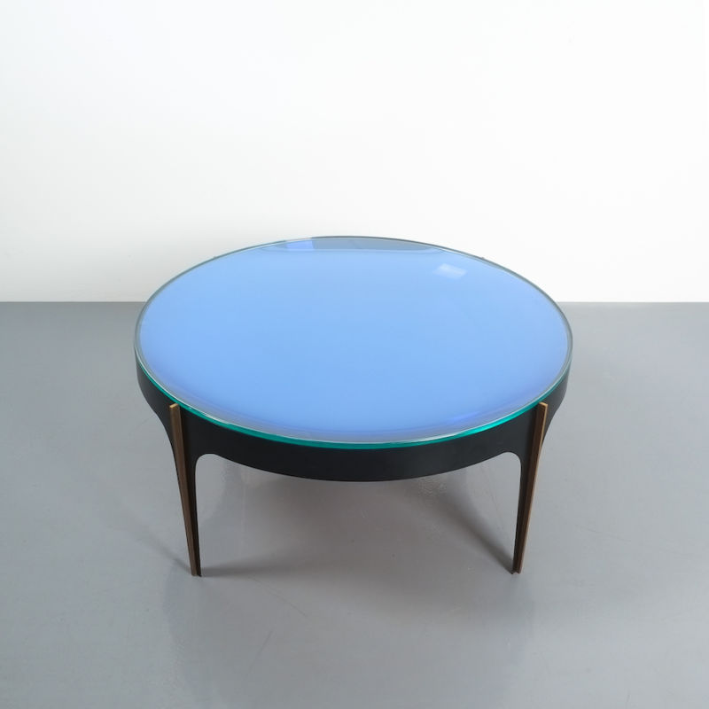 Max Ingrand Coffee Table 1774 Blue 12