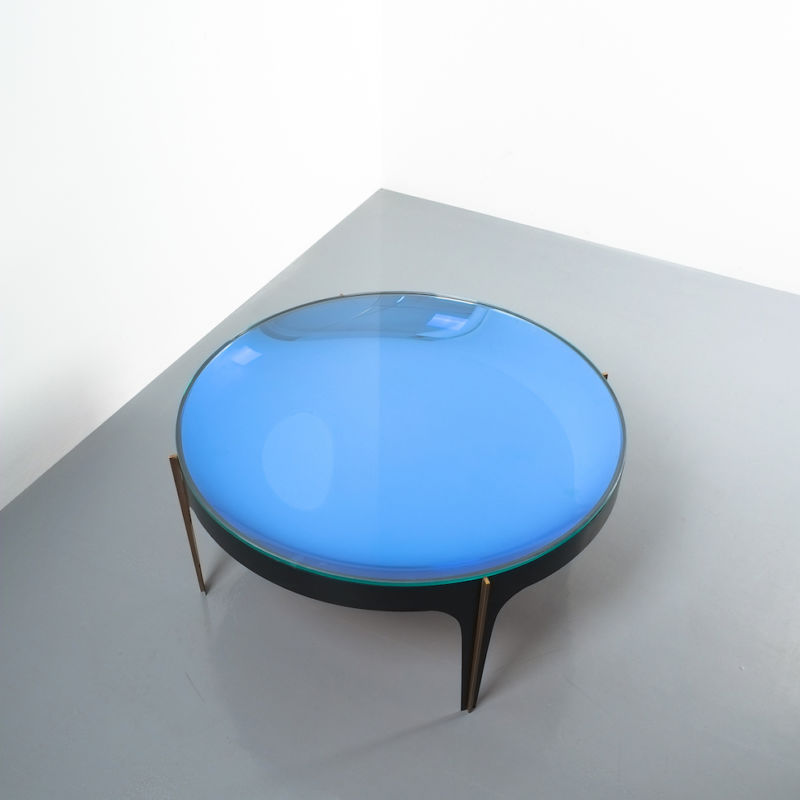 Max Ingrand Coffee Table 1774 Blue 16