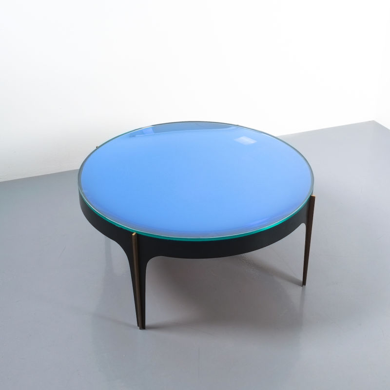 Max Ingrand Coffee Table 1774 Blue 17