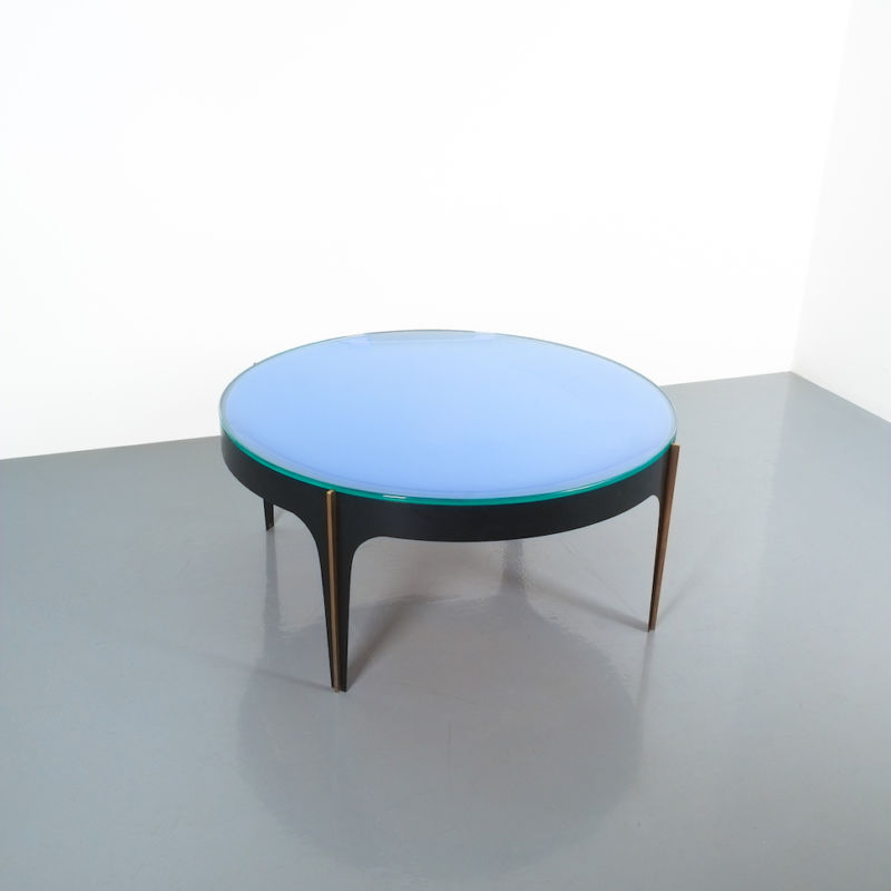 Max Ingrand Coffee Table 1774 Blue 19