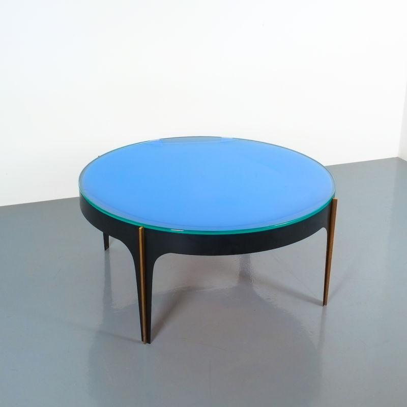Max Ingrand Coffee Table 1774 Blue 20