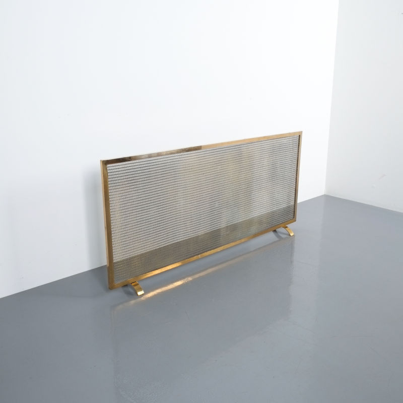 Mid Century Fire Screens Brass 03