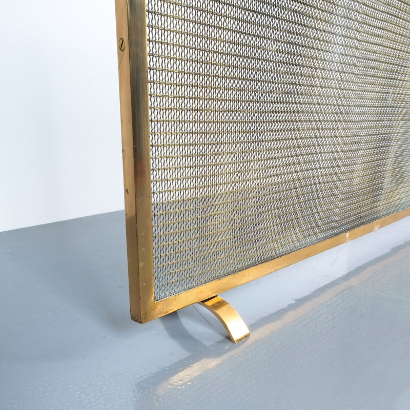Mid Century Fire Screens Brass 05