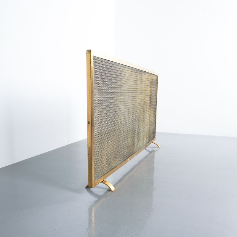 Mid Century Fire Screens Brass 06