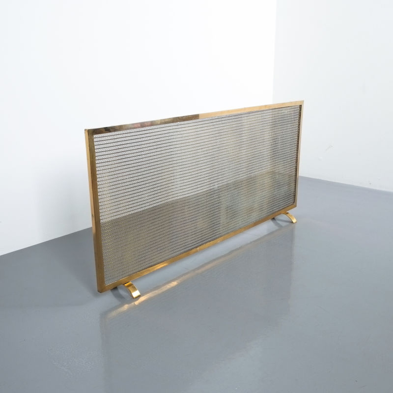Mid Century Fire Screens Brass 09