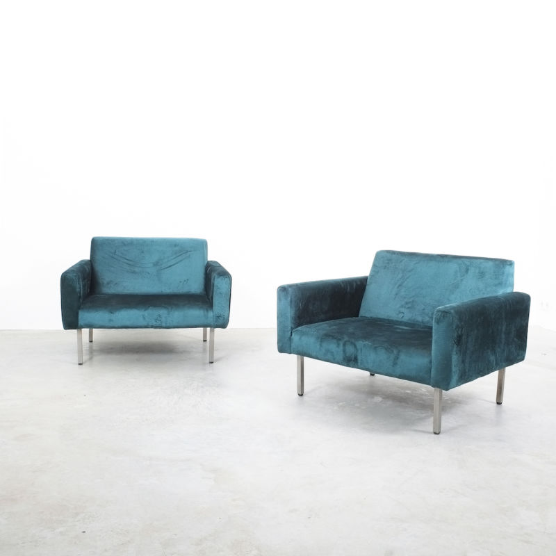 Nelson Miller Pair Chairs Velvet 07