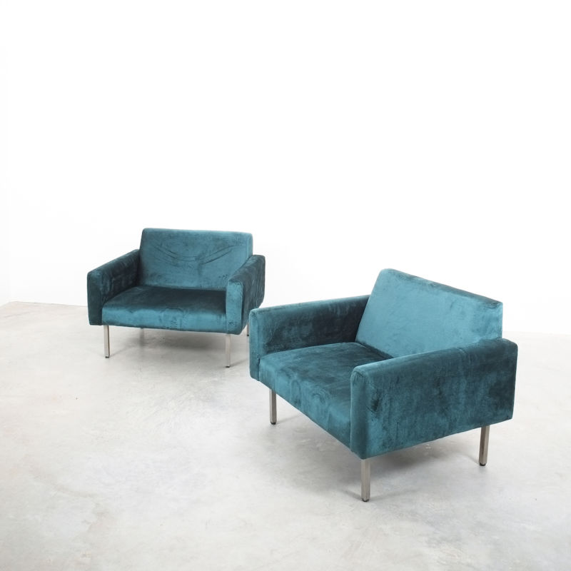 Nelson Miller Pair Chairs Velvet 08